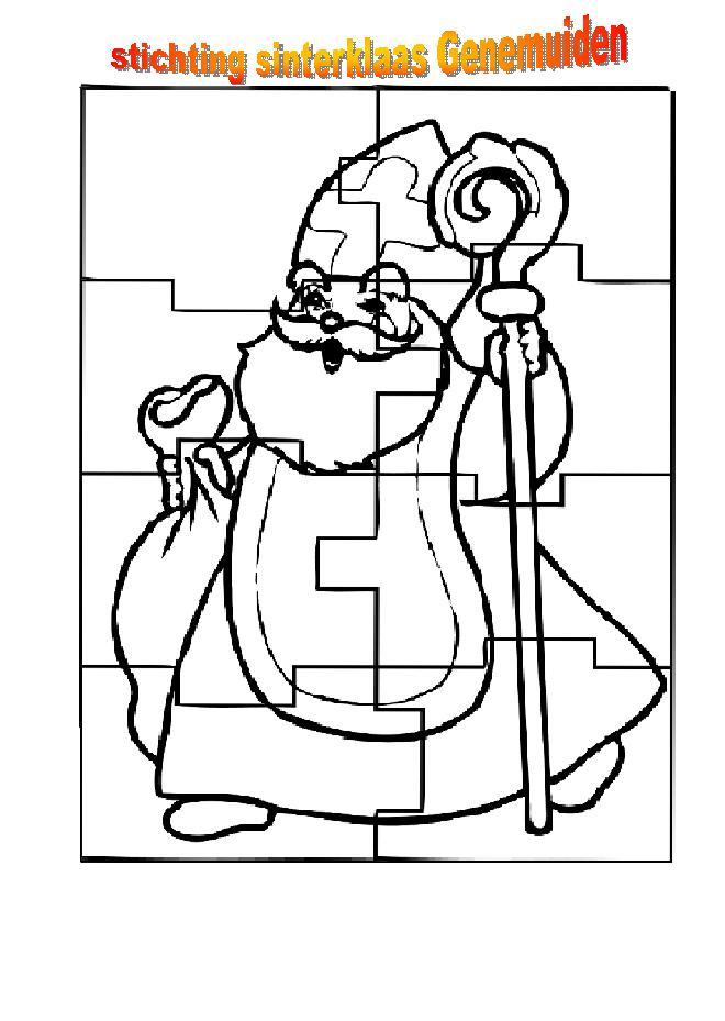 Kleurplaat Sinterklaas Puzzel Idee 235 N Over Kleurpagina S